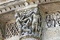 Reich geschmückt, die romanische Apsis (12. Jahrhundert) der Kirche Saint-Vivien-de-Medoc. 22.jpg