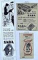 Reklame for Saba DeLuxe Sca Mølnycke damebind menstruasjonsbind sanitetsbind bind women's sanitary towels Norway 1950s mediaarkiv.vestfoldmuseene.no saba-1957-2 CC BY-SA cropped.jpg