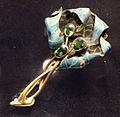 René lalique, spilla 'foglia morta', oro, smalti e tormaline, 1899-1903.JPG