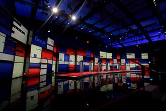 2016 Republican Party presidential debates and forums - Republican Party debate stage, Des Moines, Iowa, January 2016