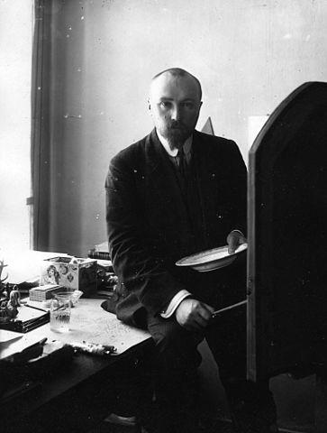 Н. К. Рерих в мастерской. Петербург, 1910-е гг.