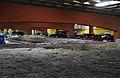 Restes arqueològiques a l'aparcament de la plaça del Castell, Pamplona.JPG