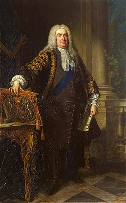 Retuched painting of robert walpole