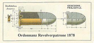 10.4mm Swiss Centerfire - Cartridge 10.4mm Swiss centerfire 1878