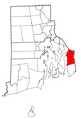 Rhode Island Municipalities Tiverton Highlighted.png