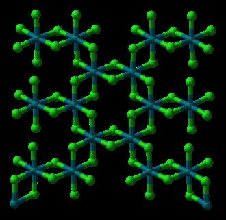 Rhodium(III) chloride - Image: Rhodium trichloride layer from xtal 1964 3D balls
