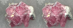 Rhodochrosite - Small Rhodochrosite specimen featured in a mineral kit, from Wuton mine, Guangxi prov, China.