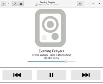 Rhythmbox - Control remote rhythmbox via GNOME web browser