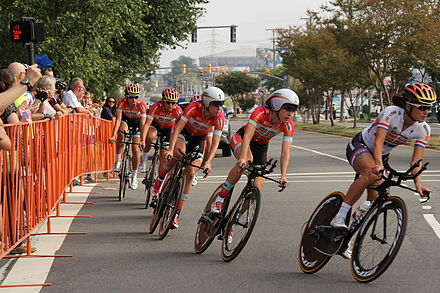 Van Dijk won with Boels-Dolmans the silver medal in the team time trial at the world championships Richmond 2015 UCI (20927226953).jpg