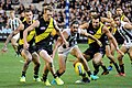 Riewoldt and Grundy ball chase.jpg