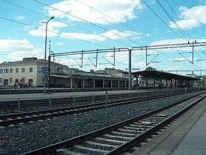 Riihimäki railway station - Train platforms and station building