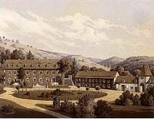 Rittergut Zingst um 1860, Sammlung Alexander Duncker (Quelle: Wikimedia)