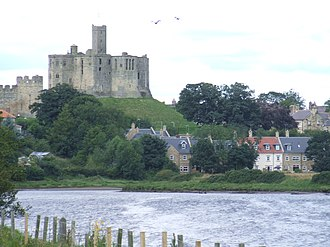 Warkworth, Northumberland - Image: River Coquet with Warkworth and the Castle in the background geograph.org.uk 538130