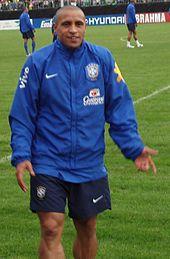 Roberto Carlos durante un allenamento della Nazionale brasiliana a Weggis in preparazione al Mondiale 2006