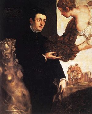 Marietta Robusti - Portrait of Ottavio Strada (c. 1567-68), attributed to Robusti Stedelijk Museum, Amsterdam