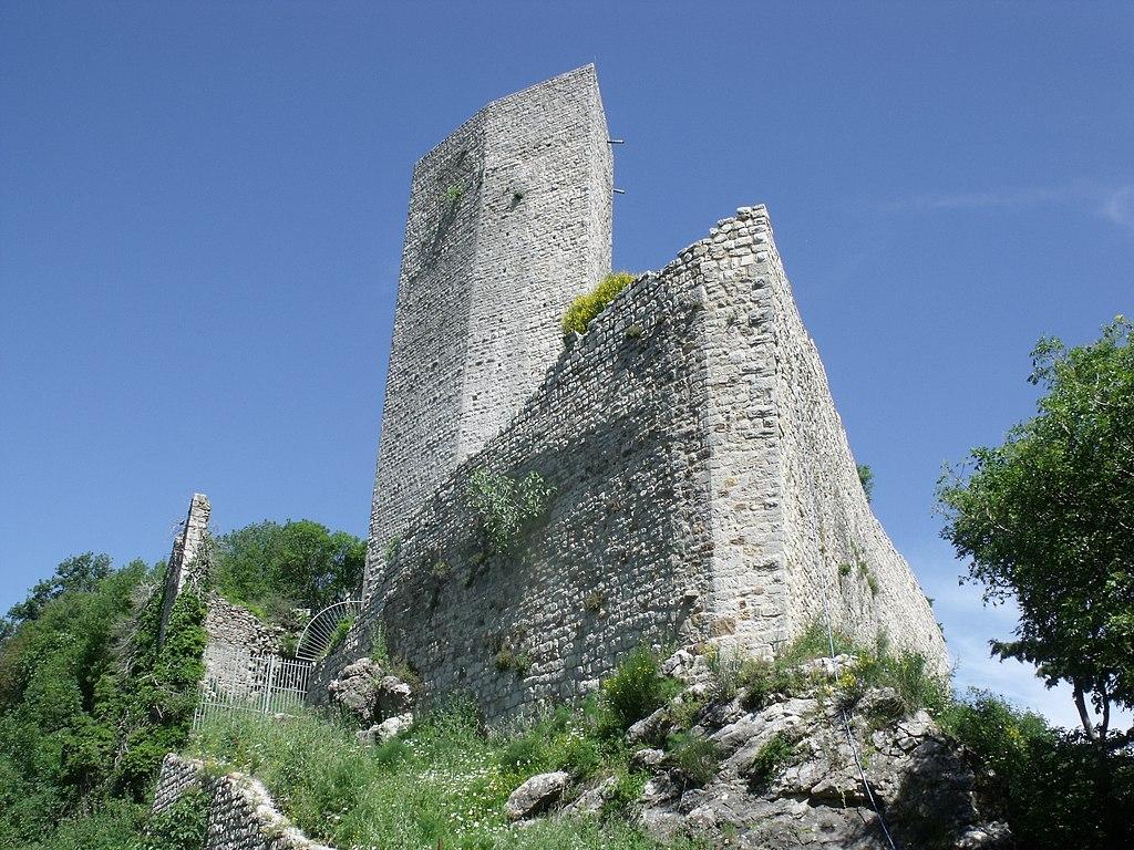 Castle Rocca Silvana near Selvena, Castell'Azzara, Monte Amiata Area,
