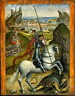Rogier van der Weyden - Saint George and the Dragon, NGA, Washington.jpg