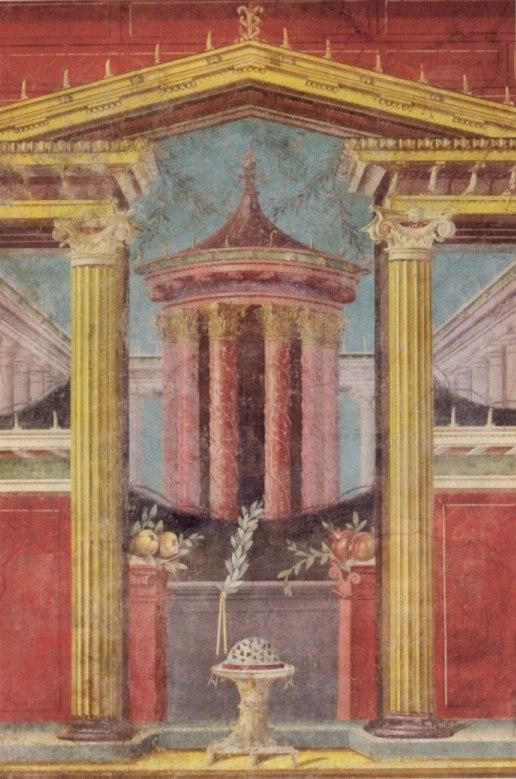 Roman fresco from Boscoreale, 43-30 BCE, Metropolitan Museum of Art