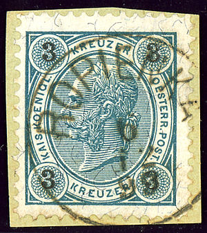 Ropienka - Austrian KK stamp cancelled ROPIENKA in 1893
