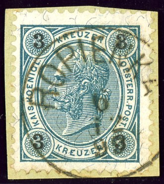 Ropienka - Austrian KK stamp cancelled ROPIENKA in 1893