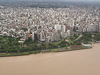 Rosario viewed from a point above the Paraná River(1970)