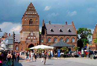 Roskilde - The former city hall of Roskilde, completed in 1884