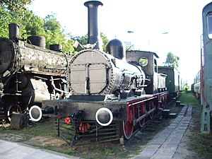 National Transport Museum, Bulgaria - Preserved P3/3z steam engine 148 built 1868 — an exhibit at the museum