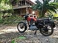 Royal Enfield old bullets, Royal Enfield bullet in Red colour, Andaman.jpg