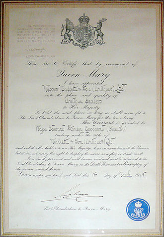 Mallett Antiques - Mallett enjoyed Royal Patronage for many years, this is just one such Warrant from Queen Mary, dated 1945.