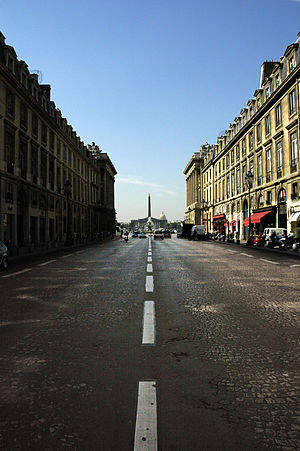 8th arrondissement of Paris - Rue Royale, from the Place de la Madeleine to the place de la Concorde in the 8th arrondissement.