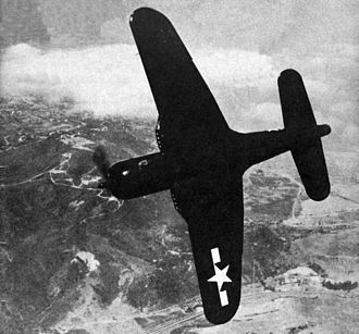 Ryan FR Fireball - Underside of a VF-66 aircraft, 1945. This view illustrates the wing planform and the wing root air intakes.