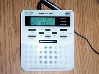 NOAA Weather Radio - A Midland brand Public Alert-certified NOAA Weather Radio, model WR100