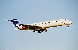 Linate Airport disaster - Image: SAS MD 87 SE DMA