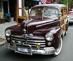 1941 ford wikipedia 1952 Ford 4 Door Sedan a 1948 ford woodie station wagon the last of the all wood bodied wagons