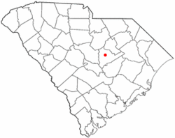 Location of Cherryvale, South Carolina
