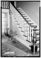 STAIRWAY IN HALL. - Dr. E. W. Daugette House, 601 North Pelham Road, Jacksonville, Calhoun County, AL HABS ALA,8-JACVI,5-5.tif