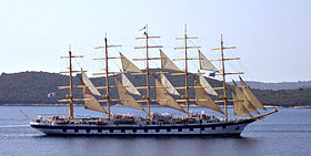 Royal Clipper i Kroatien.
