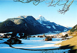Saanen village in winter