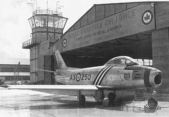 RCAF Station Grostenquin - Sabre Mk 5 of No. 416 Squadron at Grostenquin, 1953