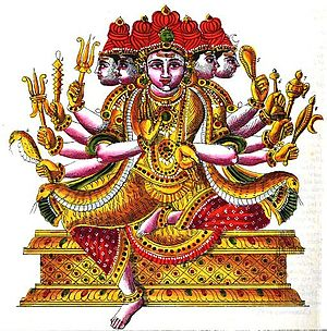 Sadasiva - A depiction of Sadasiva murti