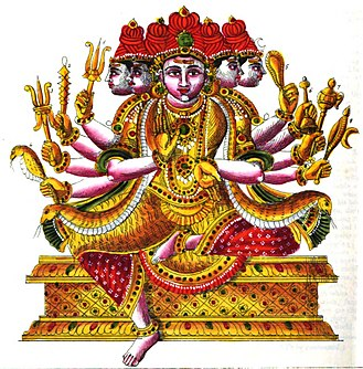 Sadasiva - A depiction of Sadasiva murti