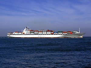 Safmarine Nomazwe p10 approaching Port of Rotterdam, Holland 19-Apr-2007.jpg