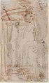 Saint Andrew, Apostle, with Transverse Cross, Book, and Fish, verso- Architectural sketch in red chalk MET 17.236.28 VERSO.jpg