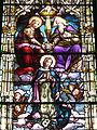 Saint Joseph Catholic Church (Somerset, Ohio) - stained glass, Coronation of the Virgin Mary.jpg