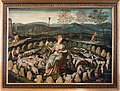 Sainte Geneviève gardant ses moutons - École flamande, fin du XVIe siècle.jpg