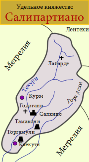 Salipartiano - Map of Salipartiano