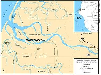 Salt River (California) - Image: Salt River Map