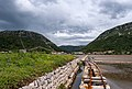 Salt mines with the city walls in the background, Ston, Croatia (PPL1-Corrected) julesvernex2.jpg