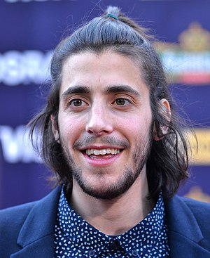 Salvador Sobral - Sobral on the Eurovision Song Contest red carpet in Kiev in 2017