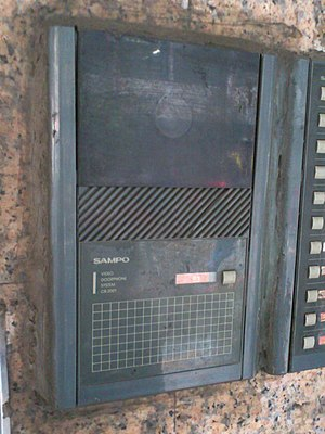 Video door-phone - Image: Sampo video doorphone system C8 2001